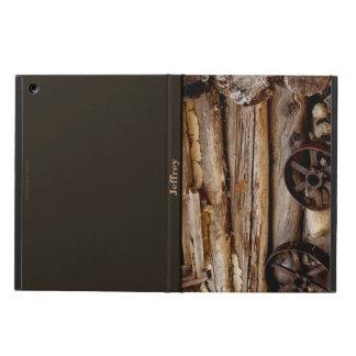 iPad Air Case, Rusty Wagon Wheels, Brown Back