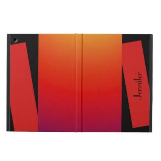 iPad Air Case, Wild Colors, Red Orange Yellow