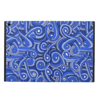 iPad Air Case with Blue Doodles