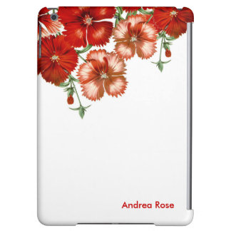 ipad Air Red Carnation Flower Case Case For iPad Air