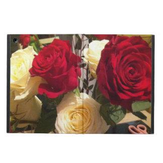 iPad AirCase de los rosas amarillos de Redand sin