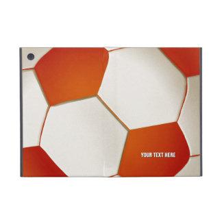 iPad anaranjado del fútbol del fútbol de Personali iPad Mini Funda
