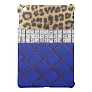 iPad atractivo del azul real del diamante del leop