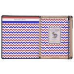 iPad azul blanco rojo patriótico de Chevron DODOCa iPad Protectores