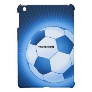 iPad azul del fútbol del fútbol de Personalizable