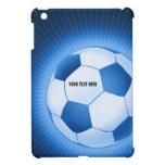 iPad azul del fútbol del fútbol de Personalizable  iPad Mini Cárcasa