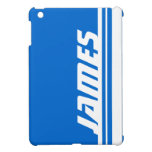 Ipad azul y blanco conocido del deporte de la raya iPad mini cobertura