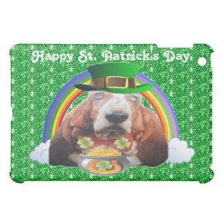Ipad Case Basset Hound Happy St. Patrick's Day