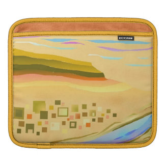 iPad Case Desert 1 Design Gold Trim Sleeves For iPads