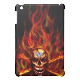iPad Case - Flaming Skull