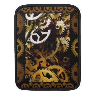 ipad case: Golden Steampunk Gears Framed iPad Sleeve