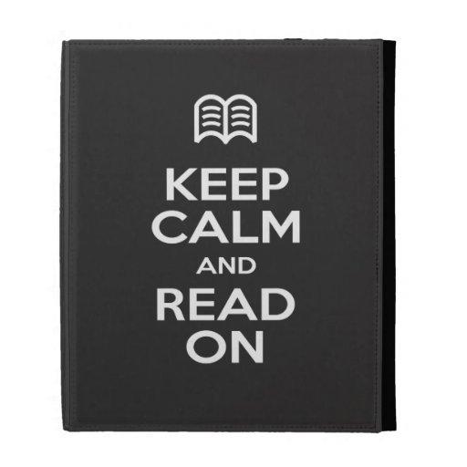 iPad Case - Keep Calm and Read On