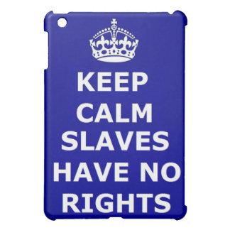 Ipad Case Keep Calm Slaves Have No Rights
