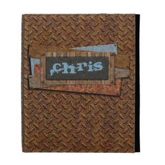 iPad Case - metal works - grunge - Personalized