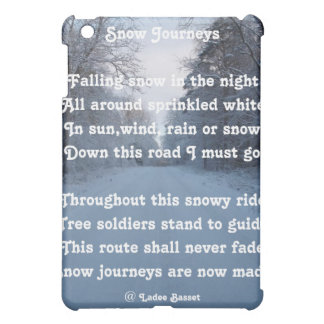 Ipad Case Poem Snow Journey By Ladee Basset