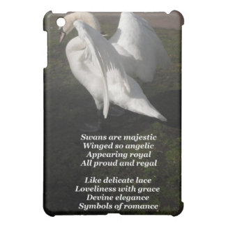 Ipad Case Poem Swans Are Majestic By Ladee Basset