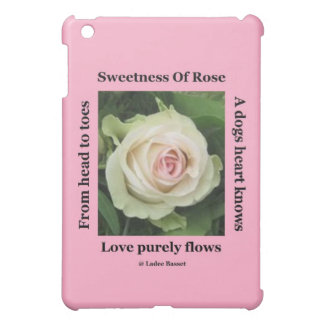 Ipad Case Poetic Rose On Pink By Ladee Basset