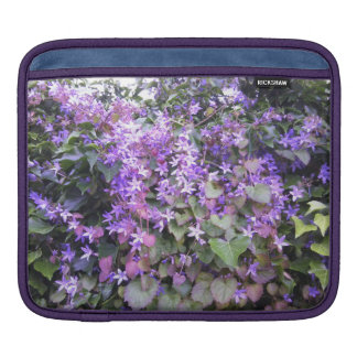 iPad Case Purple / Mauve Flowers Sleeves For iPads