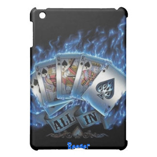 IPad Case - Royal Flush with Blue Flames