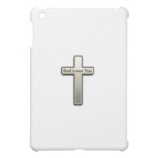 Ipad Case Silver Cross God Loves You