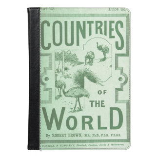 iPad Case Vintage Book Countries of the World