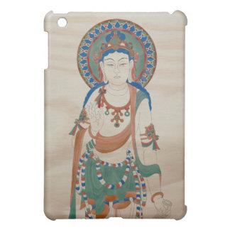 iPad Case - Vitarka Mudra Buddha Doug Fir Backgr