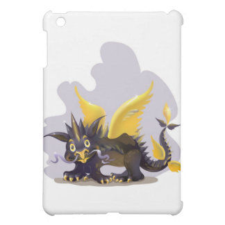 iPad case with funny black dragon picture