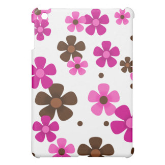iPad Case with Pink and Chocolate Brown Daisies
