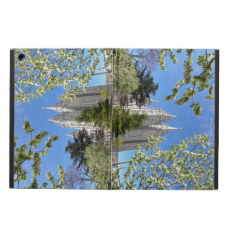 iPad case with Salt lake Temple, spring time.