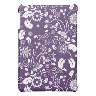 iPad case  with white decorative flowers