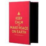 [Xmas tree] keep calm and make peace on earth  iPad Cases