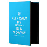 [Cupcake] keep calm my birthday is in 9 days!!  iPad Cases