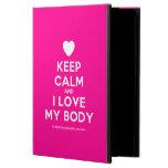 [Love heart] keep calm and i love my body  iPad Cases