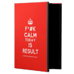 [Crown] f*#k calm today is result  iPad Cases