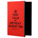 [Crown] keep calm my birthday august 3rd  iPad Cases