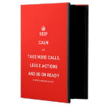 [Crown] keep calm and take more calls, less e actions and be on ready  iPad Cases