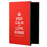 [Crown] keep calm and love robbie  iPad Cases