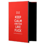 [UK Flag] keep calm and run like fuck  iPad Cases