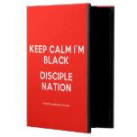 keep calm i'm black disciple nation  iPad Cases