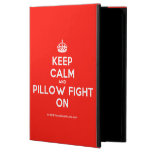 [Crown] keep calm and pillow fight on  iPad Cases