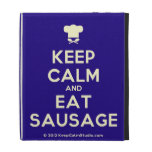 [Chef hat] keep calm and eat sausage  iPad Cases