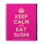 [Crown] keep calm and eat sushi  iPad Cases