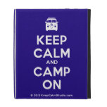 [Campervan] keep calm and camp on  iPad Cases