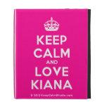 [Crown] keep calm and love kiana  iPad Cases