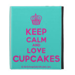 [Cupcake] keep calm and love cupcakes  iPad Cases