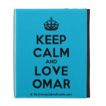[Crown] keep calm and love omar  iPad Cases