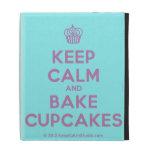 [Cupcake] keep calm and bake cupcakes  iPad Cases
