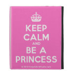 [Crown] keep calm and be a princess  iPad Cases