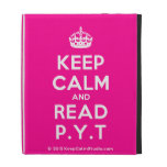 [Crown] keep calm and read p.y.t  iPad Cases