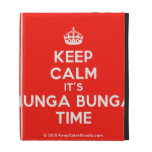 [Crown] keep calm it's bunga bunga time  iPad Cases